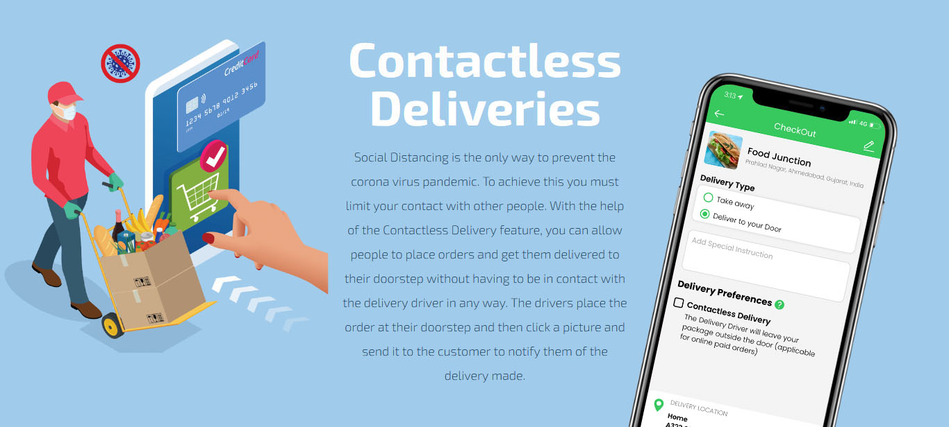 food -  contactless deliveries