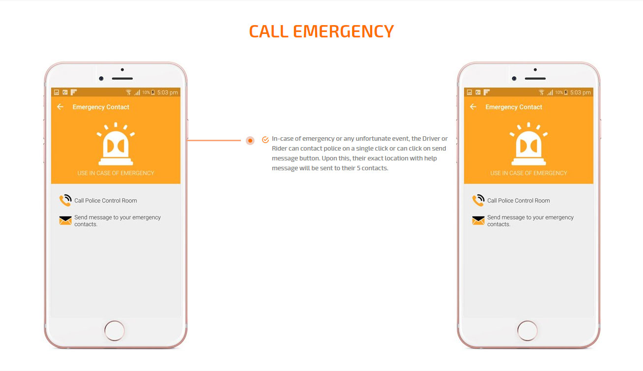 emergency call screen