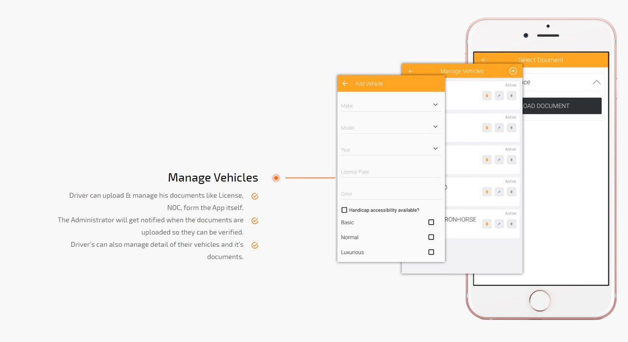 manage vehicle screen