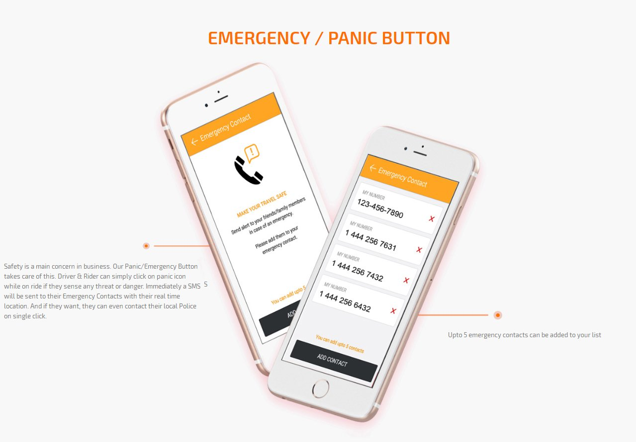 emergency/panic button screen