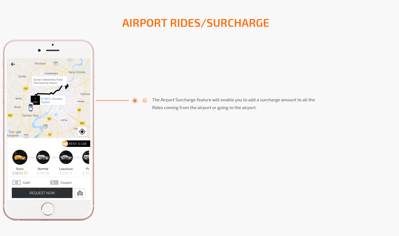 Airport surcharge feature