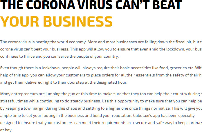 CORONA VIRUS CAN'T BEAT YOUR BUSINESS