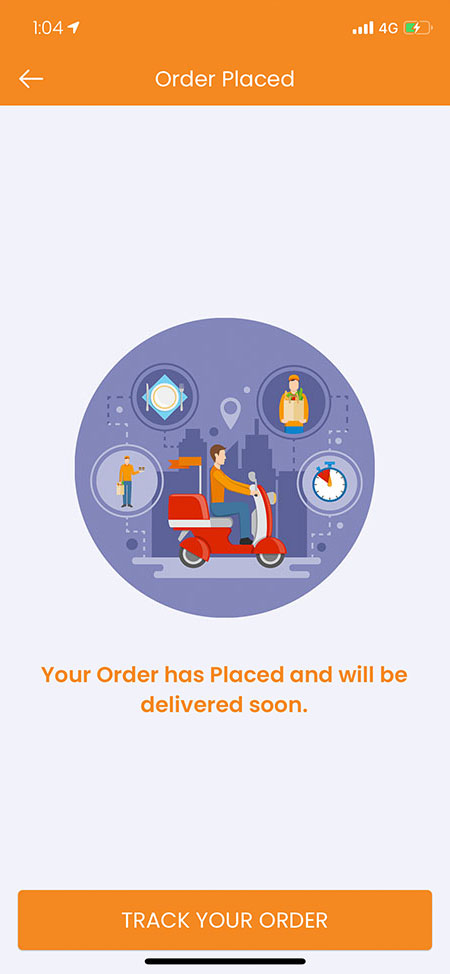 order placed