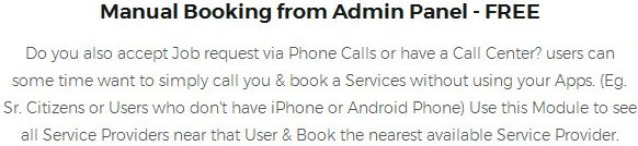 Manual Booking from Admin Panel