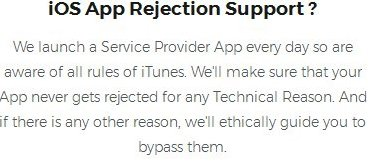 iOS App Rejection Support?