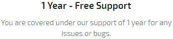 1 Year - Free Support
