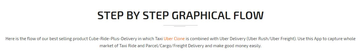 Taxi with Delivery App Graphial Flow Screen