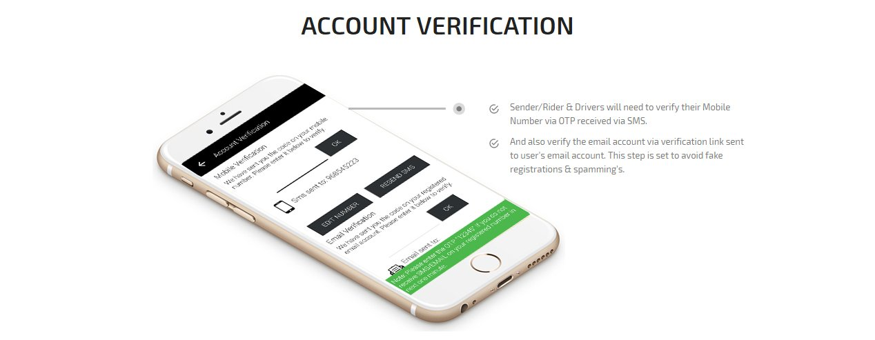 Ride plus Delivery Account Verification Screen