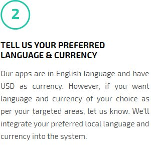 Tell us Your Preferred language & Currency for App